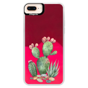 Neonové pouzdro Pink iSaprio Cacti 01 na mobil Apple iPhone 8 Plus