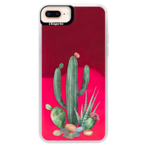 Neonové pouzdro Pink iSaprio Cacti 02 na mobil Apple iPhone 8 Plus
