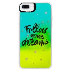 Neonové pouzdro Blue iSaprio Follow Your Dreams black na mobil Apple iPhone 8 Plus
