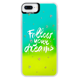 Neonové pouzdro Blue iSaprio Follow Your Dreams white na mobil Apple iPhone 8 Plus