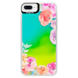 Neonové pouzdro Blue iSaprio Flower Brush na mobil Apple iPhone 8 Plus