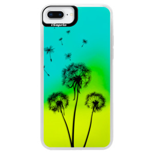 Neonové pouzdro Blue iSaprio Three Dandelions black na mobil Apple iPhone 8 Plus