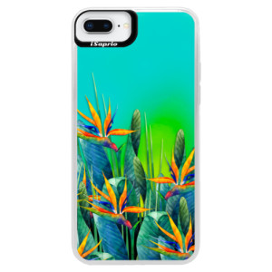 Neonové pouzdro Blue iSaprio Exotic Flowers na mobil Apple iPhone 8 Plus