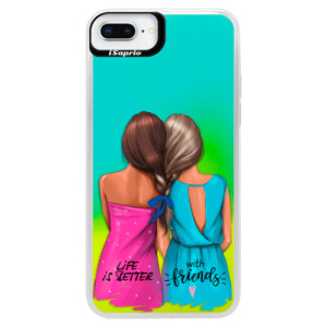 Neonové pouzdro Blue iSaprio Best Friends na mobil Apple iPhone 8 Plus
