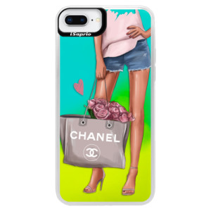 Neonové pouzdro Blue iSaprio Fashion Bag na mobil Apple iPhone 8 Plus