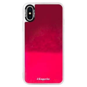 Neonové pouzdro Pink iSaprio 4Pure mléčné bez potisku na mobil iPhone X