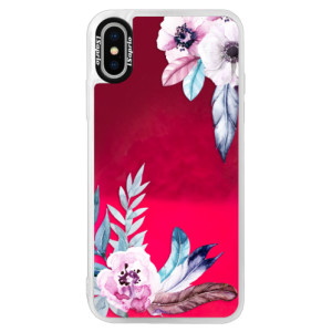 Neonové pouzdro Pink iSaprio Flower Pattern 04 na mobil Apple iPhone XS