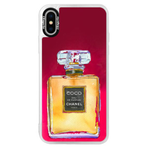 Neonové pouzdro Pink iSaprio Chanel Gold na mobil Apple iPhone XS