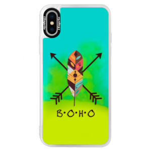 Neonové pouzdro Blue iSaprio BOHO na mobil Apple iPhone XS