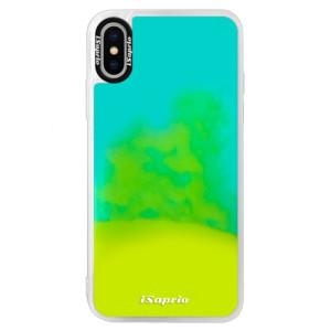 Neonové pouzdro Blue iSaprio 4Pure mléčné bez potisku na mobil iPhone XS
