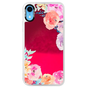 Neonové pouzdro Pink iSaprio Flower Brush na mobil Apple iPhone XR