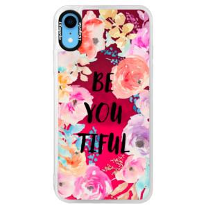 Neonové pouzdro Pink iSaprio BeYouTiful na mobil Apple iPhone XR