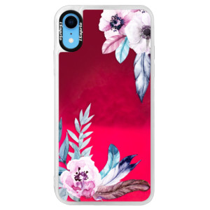 Neonové pouzdro Pink iSaprio Flower Pattern 04 na mobil Apple iPhone XR