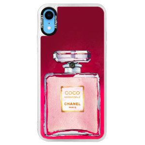 Neonové pouzdro Pink iSaprio Chanel Rose na mobil Apple iPhone XR