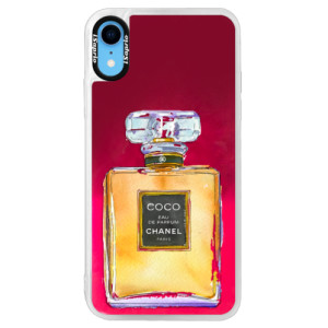 Neonové pouzdro Pink iSaprio Chanel Gold na mobil Apple iPhone XR