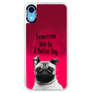 Neonové pouzdro Pink iSaprio Better Day 01 na mobil Apple iPhone XR