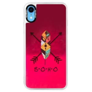 Neonové pouzdro Pink iSaprio BOHO na mobil Apple iPhone XR