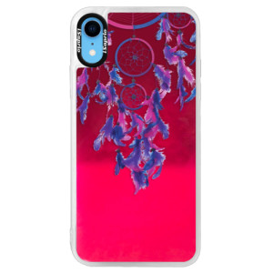 Neonové pouzdro Pink iSaprio Dreamcatcher 01 na mobil Apple iPhone XR