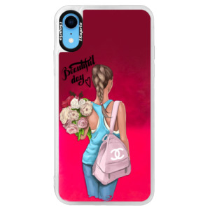 Neonové pouzdro Pink iSaprio Beautiful Day na mobil Apple iPhone XR