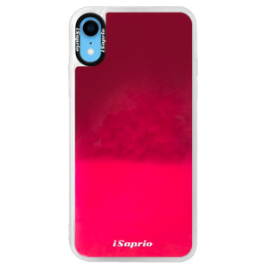 Neonové pouzdro Pink iSaprio 4Pure mléčné bez potisku na mobil iPhone XR