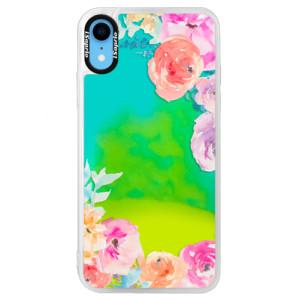Neonové pouzdro Blue iSaprio Flower Brush na mobil Apple iPhone XR