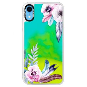 Neonové pouzdro Blue iSaprio Flower Pattern 04 na mobil Apple iPhone XR