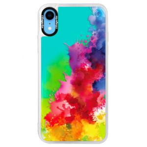 Neonové pouzdro Blue iSaprio Color Splash 01 na mobil Apple iPhone XR