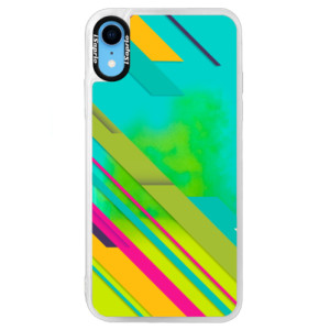Neonové pouzdro Blue iSaprio Color Stripes 03 na mobil Apple iPhone XR