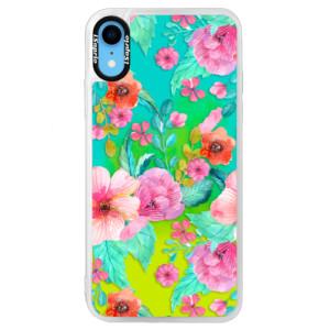 Neonové pouzdro Blue iSaprio Flower Pattern 01 na mobil Apple iPhone XR