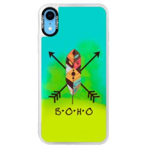Neonové pouzdro Blue iSaprio BOHO na mobil Apple iPhone XR