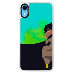 Neonové pouzdro Blue iSaprio BaT Comics na mobil iPhone XR