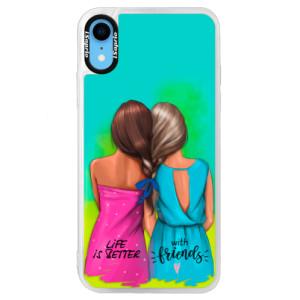 Neonové pouzdro Blue iSaprio Best Friends na mobil Apple iPhone XR