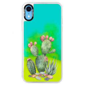 Neonové pouzdro Blue iSaprio Cacti 01 na mobil Apple iPhone XR