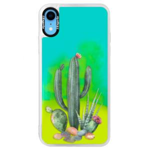 Neonové pouzdro Blue iSaprio Cacti 02 na mobil Apple iPhone XR