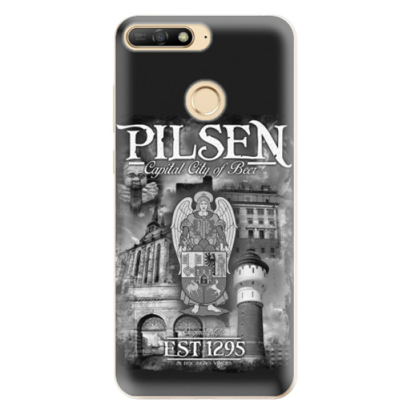 Silikonový kryt iSaprio - Pilsen Beer City pro mobil Huawei Y6 Prime (2018)