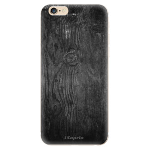 Silikonové odolné pouzdro iSaprio Black Wood 13 na mobil Apple iPhone 6 / Apple iPhone 6S