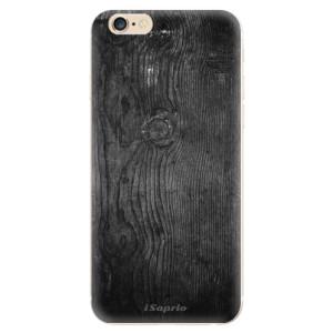Silikonové odolné pouzdro iSaprio Black Wood 13 na mobil Apple iPhone 6 / Apple iPhone 6S - poslední kus za tuto cenu