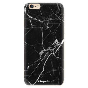 Silikonové odolné pouzdro iSaprio Black Marble 18 na mobil Apple iPhone 6 / Apple iPhone 6S