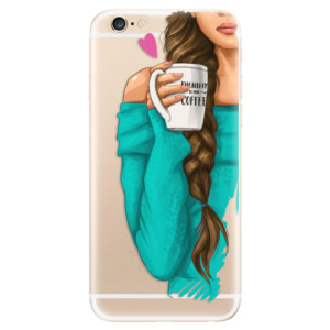 Silikonové odolné pouzdro iSaprio My Coffee and Brunette Girl na mobil Apple iPhone 6 / Apple iPhone 6S
