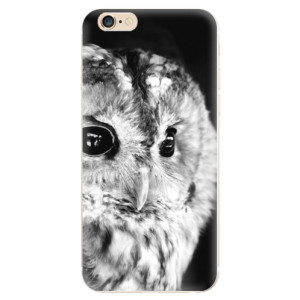 Silikonové odolné pouzdro iSaprio BW Owl na mobil Apple iPhone 6 / Apple iPhone 6S