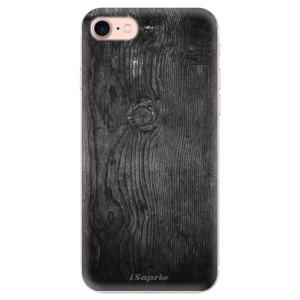 Silikonové odolné pouzdro iSaprio Black Wood 13 na mobil Apple iPhone 7