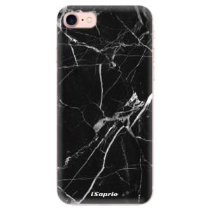 Silikonové odolné pouzdro iSaprio Black Marble 18 na mobil Apple iPhone 7