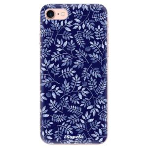 Silikonové odolné pouzdro iSaprio Blue Leaves 05 na mobil Apple iPhone 7