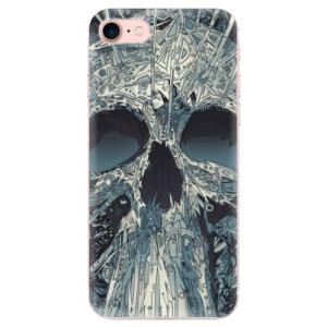 Silikonové odolné pouzdro iSaprio Abstract Skull na mobil Apple iPhone 7