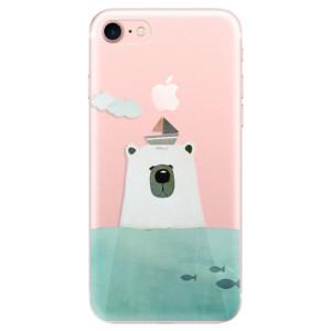 Silikonové odolné pouzdro iSaprio Bear With Boat na mobil Apple iPhone 7