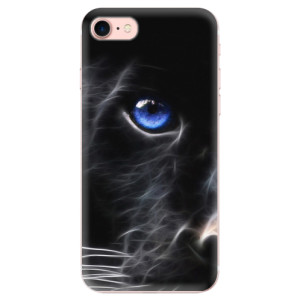 Silikonové odolné pouzdro iSaprio Black Puma na mobil Apple iPhone 7