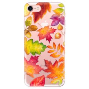 Silikonové odolné pouzdro iSaprio Autumn Leaves 01 na mobil Apple iPhone 7