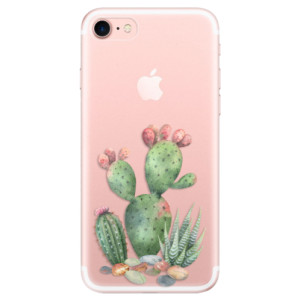 Silikonové odolné pouzdro iSaprio Cacti 01 na mobil Apple iPhone 7