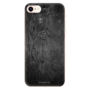 Silikonové odolné pouzdro iSaprio Black Wood 13 na mobil Apple iPhone 8