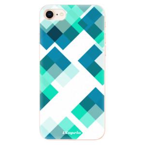 Silikonové odolné pouzdro iSaprio Abstract Squares 11 na mobil Apple iPhone 8